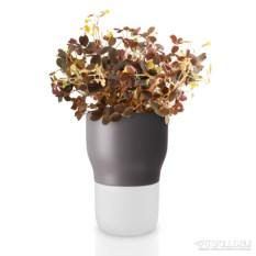 Серый горшок для растений с с функцией самополива d9 см