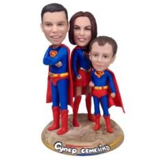 Семейная статуэтка по фото Супер семейка
