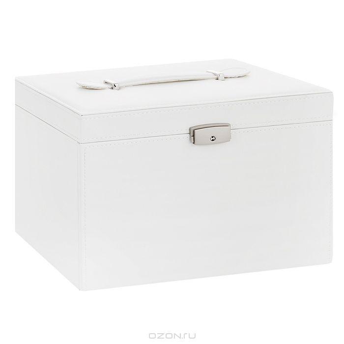 Шкатулка для украшений H8001, цвет: белый