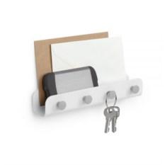Белый держатель для ключей и писем Yook