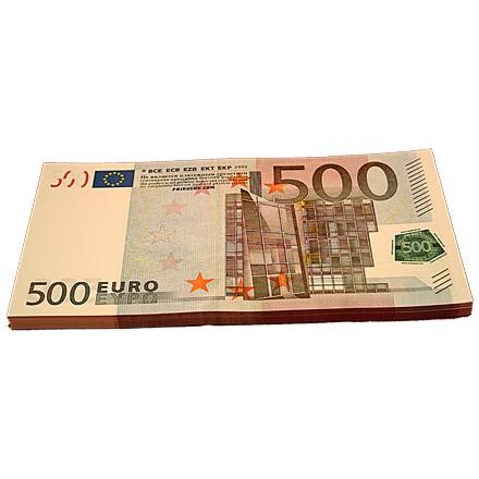 Забавная пачка купюр 500 Евро