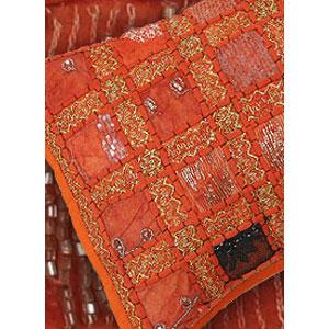 Декоративная наволочка «Персидская Ночь» оранжевая