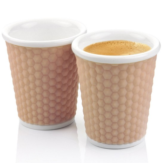Бежевый набор чашек Honeycomb