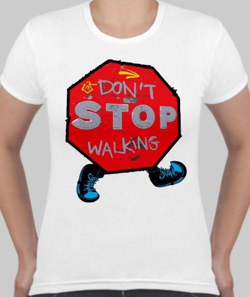 Женская футболка Знак STOP