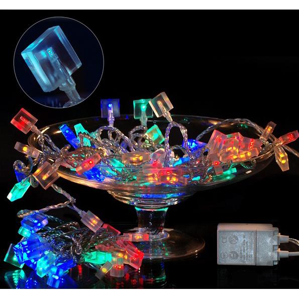 Электрогирлянда «Плоский лёд» разноцветная