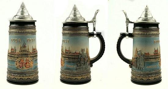 Пивная кружка с крышкой Будапешт