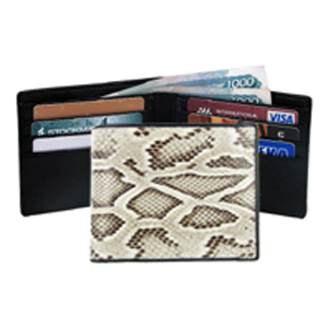 Бумажник из натуральной кожи питона Quarro