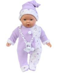Кукла-младенец Лео в сиреневом