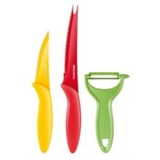 Ножи с неприлипающим лезвием и овощечистка Tescoma Presto