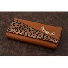 Кошелек. Коллекция Eclat (коричневый/леопард)