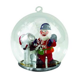 Новогодний шар с Дедом Морозом - строителем