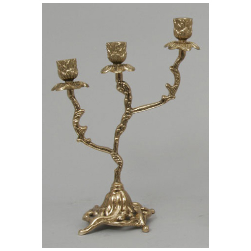 Пара канделябров на 3 свечи из бронзы Virtus 4085
