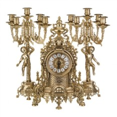 Каминные часы и 2 подсвечника Alberti Livio