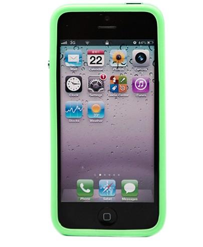 Салатовый бампер для iPhone 5 Rainbow