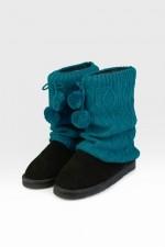 Гетры для обуви Ромбы, бирюза