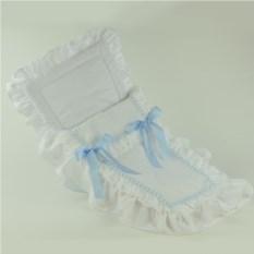 Белый конверт с голубой лентой для кукол ASI