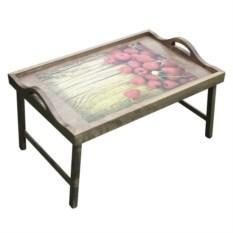 Столик с ручками для завтрака в постель Ягода-малина