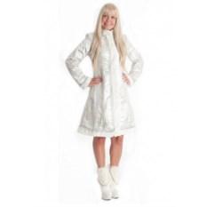 Классический белый костюм Снегурочки