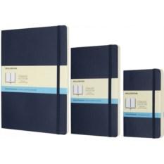 Синяя записная книжка в точку Moleskine Classic Soft