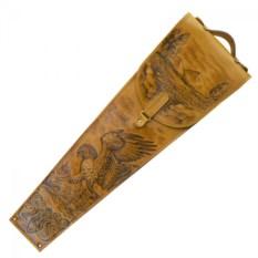 Подарочные шампура в колчане из натуральной кожи Сокол