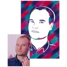 Набор Нарисуй портрет парня своими руками