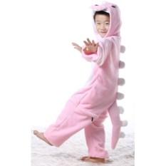Детская кигуруми Розовый динозавр