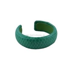 Браслет из кожи морской змеи (зеленый)