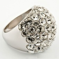 Кольцо с кристаллами Swarovski Glory
