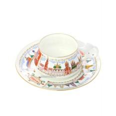 Чайная чашка с блюдцем, форма Билибина, рисунок Москва златоглавая