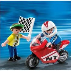 Конструктор Playmobil Мальчики с гоночным мотоциклом