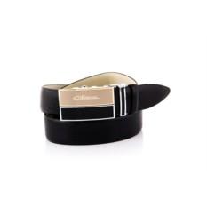 Черный мужской кожаный ремень тип 40239