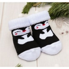 Детские махровые носки Пингвинчики