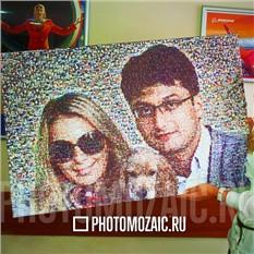 Фотомозаика в подарок влюблённым