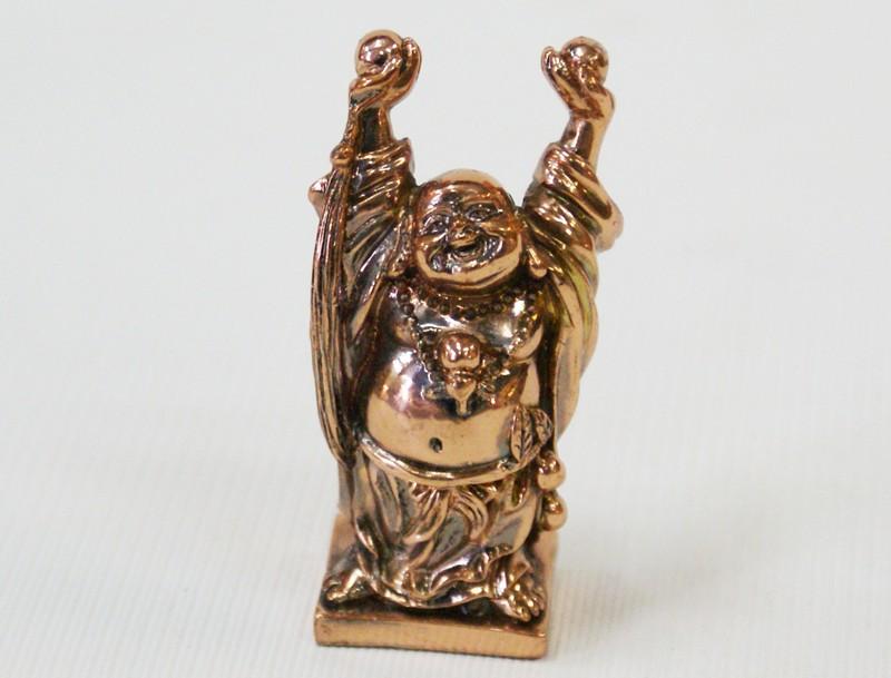 Статуэтка Хотей с поднятыми руками (феншуй)