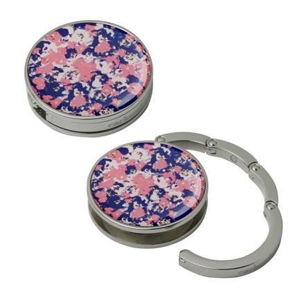 Крючок Cacharel для сумки (синий с розовым)