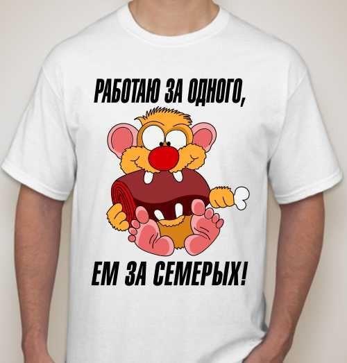 Мужская футболка Работаю за одного