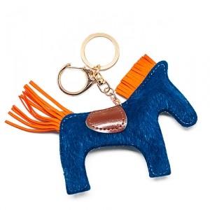 Брелок Лошадка (синяя с оранжевым)