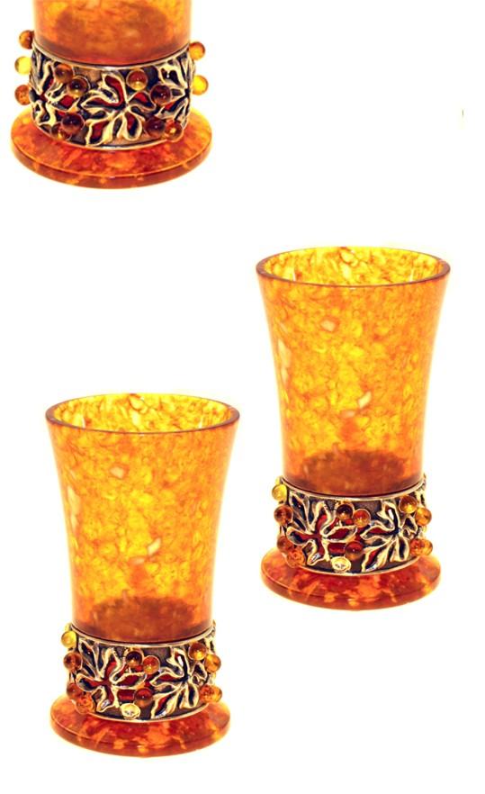 Набор из 2 янтарных стопок Виноградная лоза
