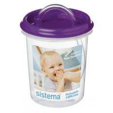 Детская чашка с трубочкой purpl