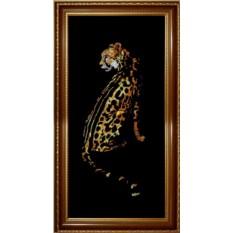 Картина с кристаллами Swarovski Гепард-принц