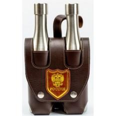 Походный набор из двух фляжек в сумке Россия