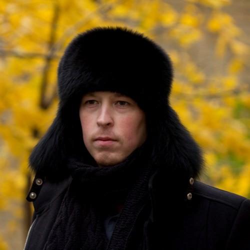 Мужская шапка-ушанка из песца Виконт
