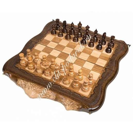 Резные шахматы и нарды Арарат