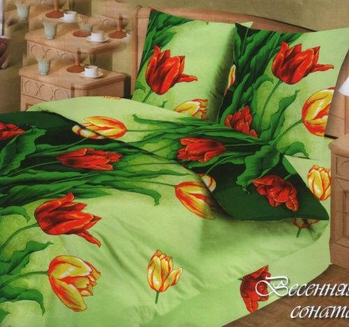 Комплект постельного белья Весенние тюльпаны (бязь)