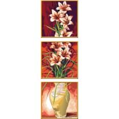 Раскраска по номерам Ravensburger Триптих Цветы
