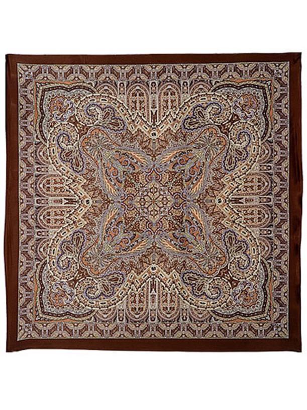 Павлопосадский шелковый платок Новелла