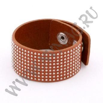 Кожаный браслет, коричневый
