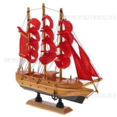 Корабль с алыми парусами, длина 22см