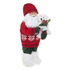 Новогоднее украшение Дед Мороз с мишуткой