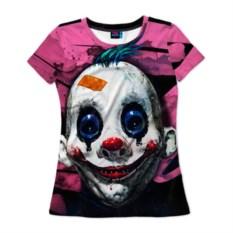 Женская 3D-футболка Клоун